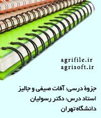 آفات مهم گياهان صيفي، جاليز، سبزي و زينتي ـ دكتر رسوليان (دانشگاه تهران)